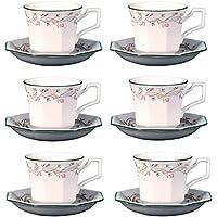 Johnson Bros Eternal Beau, Set of 6 Teacups & Saucers