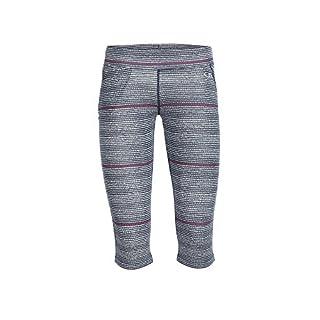 Icebreaker Women's Rush 3Q Tights Impulse Ski Trousers, Womens, Funktionshose Rush 3Q Tights Impulse, Admiral/Snow/Reflective, L