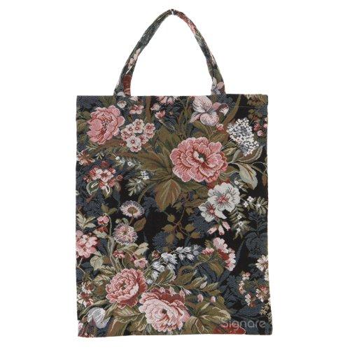 Bolsa para compras reutilizable Signare para mujer en tela de tapiz bolsa eco (Peonía)