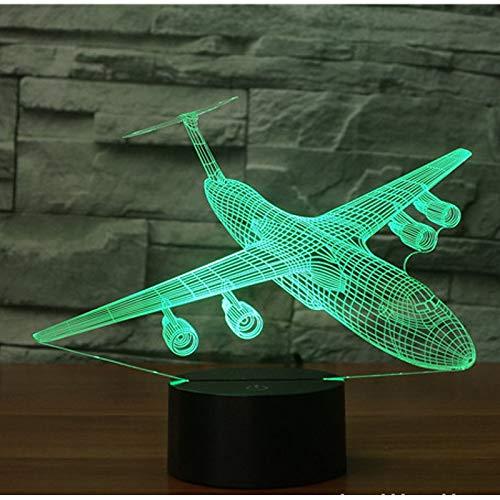 Ydwd3d led nachtlicht schock hang raketen bomber kommen mit 7 farben licht flugzeug flugzeug für hauptdekoration lampe erstaunlich -
