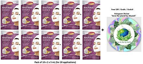 Schaebens Anti-Falten Gesichtsmaske - mit Jojobaöl, Sheabutter, Hyaluronsäure und Urea - (10 x 2 Einheiten. 5 mL je Einheit - Für 20 Anwendungen) - Für alle Hauttypen