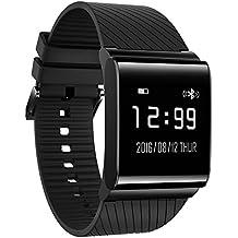 KOBWA Tracker D'activité, Smart Bracelet Connecté avec Tensiomètre Fréquence Cardiaque Podomètre Sommeil Calories Etanche IP67 Bluetooth Fitness Tracker Montre,Compatible avec Smartphone IPhone et Android