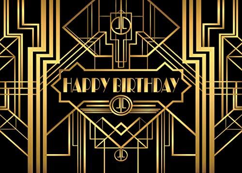 AIIKES 7x5FT/2,1Mx1,5M Schwarzes Gold Fotografie Hintergrund Erwachsen Kinder Party Baby Geburtstags Hintergrund Foto Studio Baby Dusche Dekoration 11-075 (Dekorationen Einfache Baby-dusche)