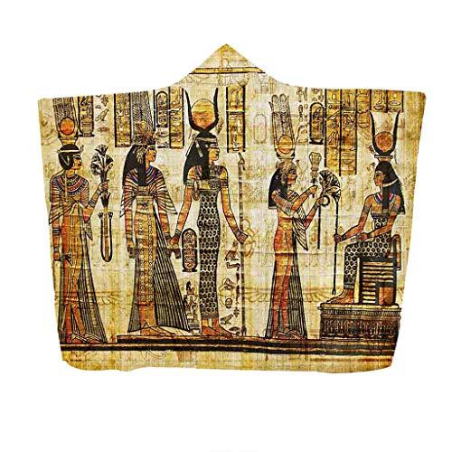 Flanelle Kostüm - Nickerchen Decke mit Kapuze Serria® Alter ägyptischer Pharao Druckdesign Plüschdecke Wearable Decke Umhang für Halloween Kostüm Requisiten