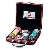 Juego Poker 100 I Valigetta In Alluminio Con Carte & Fiches Originali I Attrezzatura Da Poker & Texas Hold'em I Per Giocatori Professionisti - Rosso
