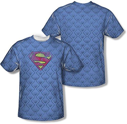 Superman - - Männer Wiederholen über Distressed T-Shirt White