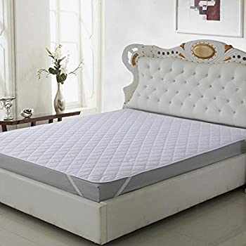 Rajasthan Crafts Presents ThreadWorks Microfiber Water Resistant and Dustproof King Size Mattress Protector(White, 78x72-inch)