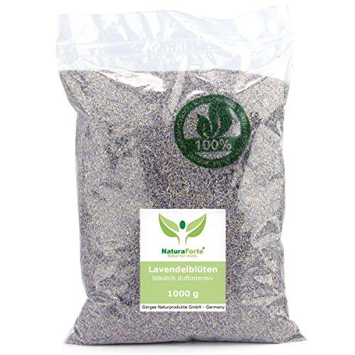 Preisvergleich Produktbild NaturaForte Lavendelblüten 1kg Lavendel ohne Zusätze - Bläulich,  Intensiver Duft,  Getrocknete Lavendel Blüten für Duftkissen,  Duftsäckchen,  Lavendelsäckchen,  Potpourri Duft