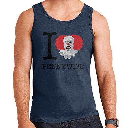 I Love Pennywise IT Men's Vest Navy Blue