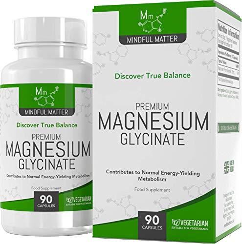 Citrate) 90 Tabletten (Magnesiumglycinat-Kapseln 250 mg - 90 vegane Tabletten  Hochdosiert   Gut aufnehmbare Form   KOGNITIVE GESUNDHEIT & MUSKELGESUNDHEIT   Ohne GVO   Glutenfrei, Milchfrei   Hergestellt in GB)