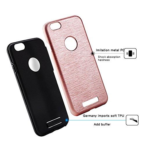 """iPhone 6sPlus Handyhülle, [High Pro Shield Serie] CLTPY iPhone 6Plus Premium 2 in 1 TPU & Hardplastic [Schwarz] Doppelte Schutzschicht & Extrem Hoher, Stoßdämpfende & Kratzfeste Back Cover für 5.5"""" Ap Rose Gold A"""