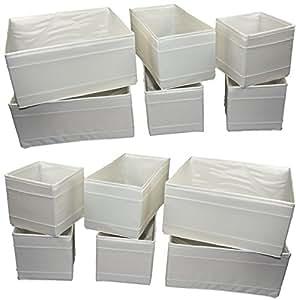 ikea aufbewahrungsboxen skubb faltboxen regaleins tze kisten 12er set weiss. Black Bedroom Furniture Sets. Home Design Ideas