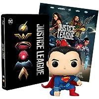 Justice League Steelbook + Poster + Funko Superman