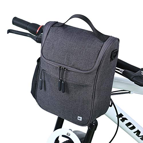 Rhinowalk Fahrrad Lenkertasche 5L Wasserdichte Fahrrad Fronttasche für jedes Fahrrad mit Abnehmbaren Schultergurt und Regen-Abdeckung Für Radfahren