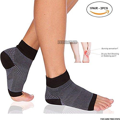 Knöchel-wrap-flat (pedimendtm Plantarfasziitis Kompression Ärmeln, Ohrstecker–2) | Kompression Ärmel mit Fußgewölbe/Absatz & Knöchelbandage Behandlung | reduzieren Fuß Schwellungen & Fersensporn | erhöht die Blutzirkulation | Unisex | Foot Care)