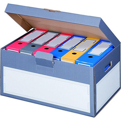 """karton-billiger 5 Stück Archivschachteln Klappdeckel\""""Premium\"""" mit Boden und Deckel zur Ablage von Ordnern A4"""