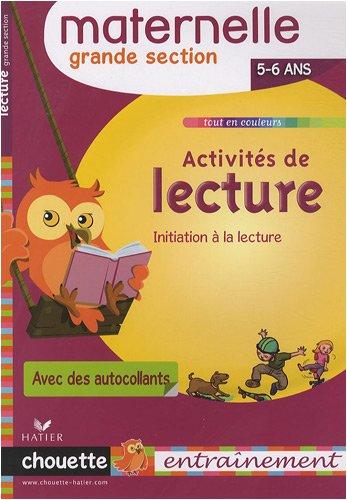 Activités de lecture Grande Section : 5/6 Ans par Albert Cohen