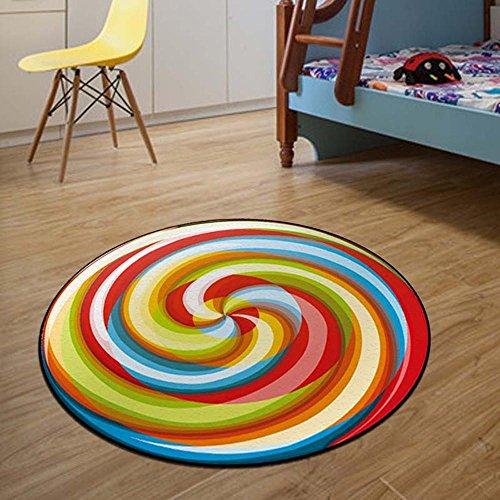 ZPL Rutschfeste runde Shaggy Bereich Teppiche und weichen Schlafzimmer-Teppich , 1 , 120cm diameter
