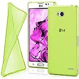 LG L90 Hülle Silikon Transparent Grün [OneFlow Clear