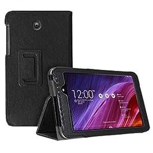 Poche de protection pour Asus MeMO Pad 7 ME70CX Tablette Housse Sac Case Cover Etui Sleeve Similicuir noir
