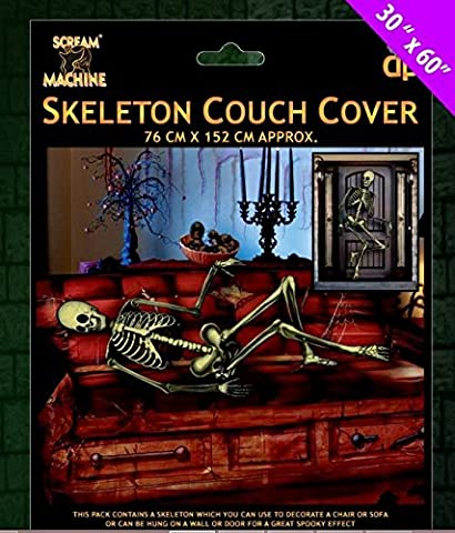Halloween Skeleton Door Cover / Sofa Cover - USe this skeleton to decorate a room - put on sofa, walls or