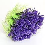 Passica 2 Pcs Artificial Aquarium Plastic Plants Ornament Fish Tank Decorations Tree Purple Coral 4