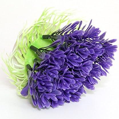 Passica 2 Pcs Artificial Aquarium Plastic Plants Ornament Fish Tank Decorations Tree Purple Coral 2