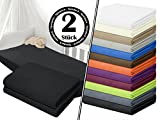 Jersey-Spannbetttuch in Top-Qualität - mit einer Steghöhe von ca. 35