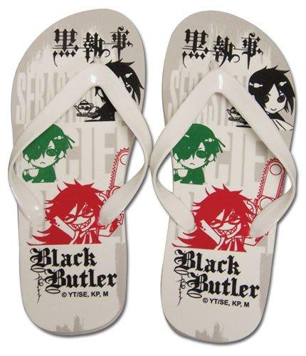 Black Butler Ciel, Sebastian, & Grell Unisex Sandals - 26 cm