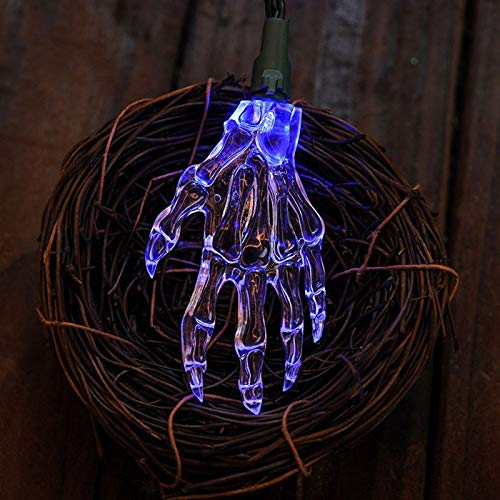 (ZBDYD 1.2M Ghost Hand Lampe String Skeleton Halloween Spielzeug Licht 10 Led Light String Dekoration Restaurant Lichter Innen Terror)