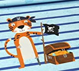 Tigerstoff- Tigerjersey - Alle Mann an Bord - Tiger - Blau