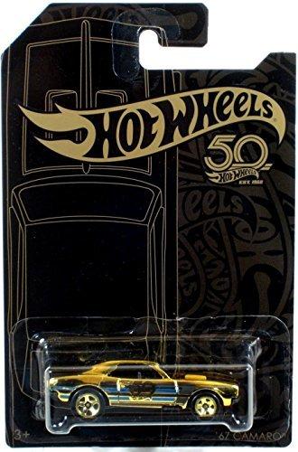 ('67 Chevy Camaro Chase 50th Anniversary Black & Gold 1:64 Hot Wheels FVJ36 FRN33)