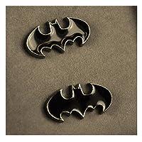 PinkCatShop Cufflinks - Batman Logo Black Enamel