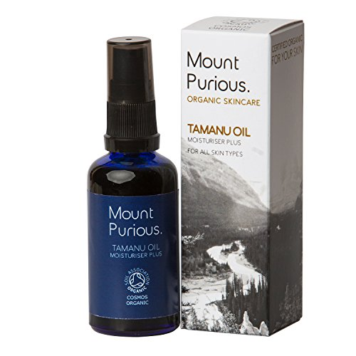 100% Certified Organic & Pure Tamanu Oil Body Moisturiser Plus - Cold Pressed & Unrefined (50ml) by Mount Purious. Organic Skincare - Mount-Öl