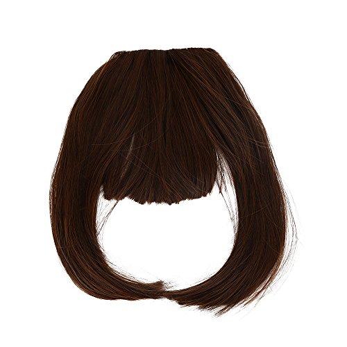 HCFKJ 2019 Hübsche Mädchen Clip auf vorne sauber Haar Bang Fringe Hair Extension Piece ()