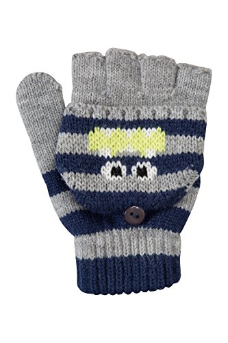 mountain-warehouse-gants-monster-en-tricot-enfant-gris-taille-unique