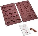 Lurch 65026 Flexi Form Adventskalender Backset Zwei Backformen aus Silikon, 24 Papiertüten und Kordel