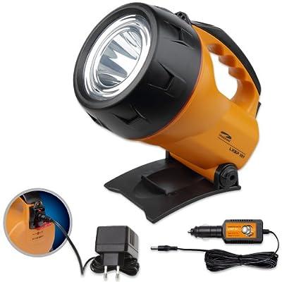 LiteXpress LXL60000R9 LXSP101 Akku-Handscheinwerfer, 1 Cree Hochleistungs-LED mit Lichtleistung bis zu 124 Lumen, wiederaufladbar Leistungsangabe nach ANSI-Standard, orange/schwarz von LiteXpress auf Lampenhans.de
