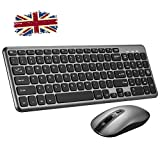 Wireless Keyboard and Mouse Set,【Scissor Key Design】Patuoxun Ergonomic 2.4G Cordless Keyboard&Mouse Combo