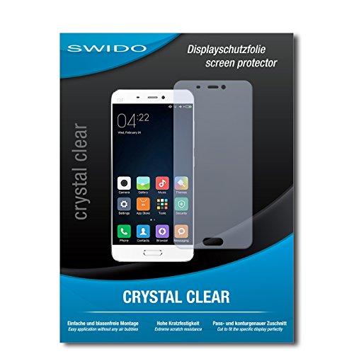 SWIDO Bildschirmschutz für Xiaomi Tech Mi-5 [4 Stück] Kristall-Klar, Hoher Härtegrad, Schutz vor Öl, Staub & Kratzer/Schutzfolie, Bildschirmschutzfolie, Panzerglas Folie