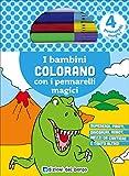 I bambini colorano con i pennarelli magici. Supereroi, pirati, dinosauri, robot, mezzi da cantiere e tanto altro! Ediz. illustrata. Con gadget