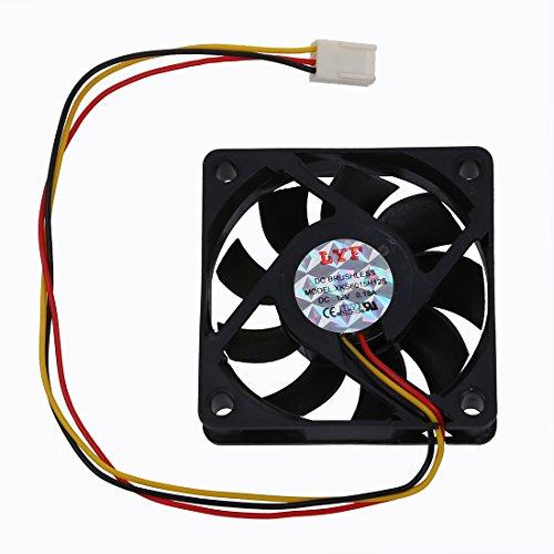 TOOGOO(R) CPU Ventilador Refrigerador Fan 60x60mm Caja Ordenador