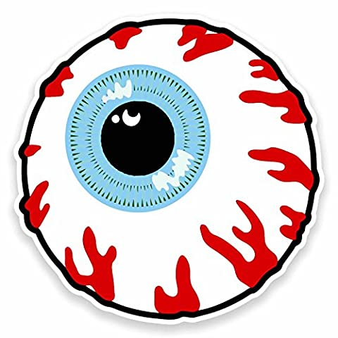 2 x 10cm Cartoon Eye Eyeball Vinyl Decal Stickers Zombie