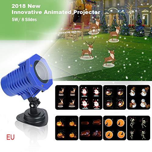 Led Lights TAOtTAO Rotierende Projektion Led Lichter 8ST Muster Objektiv Festliche Atmosphäre Dekoration