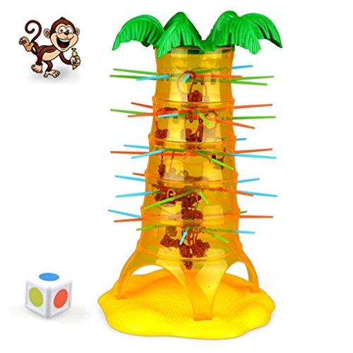 Omiky® Kinder Fallen Tumbling Monkey Family Spielzeug (eine Größe) Klettern Brettspiel (Hand Puppen Für Kleinkinder)