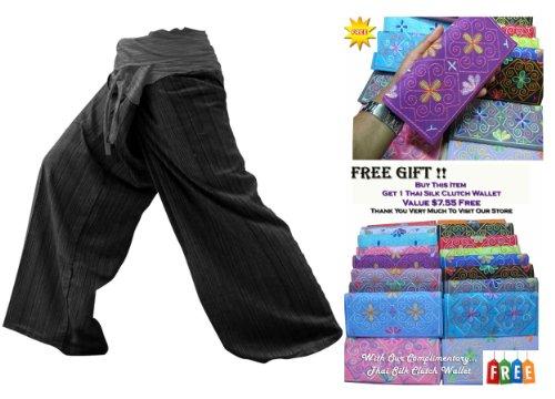 isherman Pants Yoga für Damen 2Tönen ohne Größe mehr Größe aus Baumwolle gestreift ()