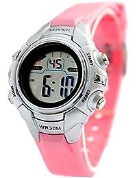10dw121i Cronógrafo Bisel Negro retroiluminación resistente al agua señoras mujeres reloj Digital