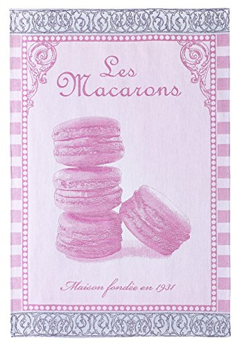 Coucke - Spül- und Geschirrtuch 'Les Macarons Rose' - Jacquard (75 x 50 x 0,3 cm)