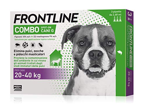 Frontline combo spot-on 3 pipette cane grande (20 - 40 kg)