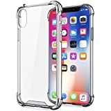 Egotude Shock Proof Hard Back Soft Bumper Anti Scratch Cover Cases For Apple IPhone X (Transparent)